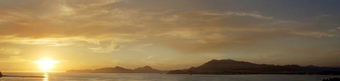 Panoramische Ansicht in Manzanillo Stockfotos