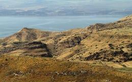 Panoramische Ansicht Meer von Galiläa Lizenzfreies Stockfoto