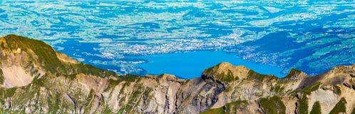 Panoramische Ansicht, Oberseite der Montierung Schilthorn Lizenzfreies Stockfoto