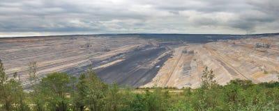 Panoramische Ansicht in Tagebau Lizenzfreie Stockbilder