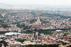 Panoramische Ansicht Tbilisi, Georgia lizenzfreie stockfotografie
