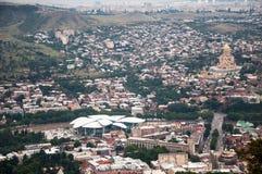 Panoramische Ansicht Tbilisi, Georgia lizenzfreie stockbilder