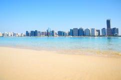 Panoramische Ansicht von Abu Dhabi, UAE Stockbild
