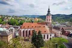 Panoramische Ansicht von Baden-Baden. Stockfotografie