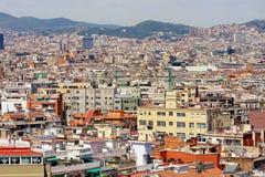 Panoramische Ansicht von Barcelona Lizenzfreies Stockfoto