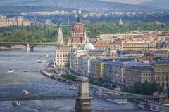 Panoramische Ansicht von Budapest Lizenzfreies Stockfoto