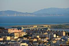 Panoramische Ansicht von Cagliari lizenzfreie stockfotos