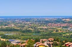 Panoramische Ansicht von Emilia-Romagna Italien stockfotos