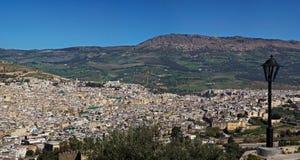 Panoramische Ansicht von Fes Stockbilder