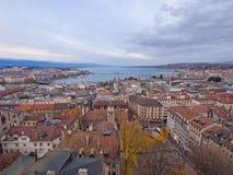 Panoramische Ansicht von Genf Lizenzfreie Stockfotos
