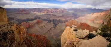 Panoramische Ansicht von Grand Canyon Stockbilder