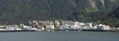 Panoramische Ansicht von Juneau, Kapital von Alaska Lizenzfreies Stockfoto