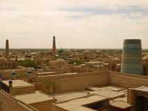 Panoramische Ansicht von Khiva Stockfotografie