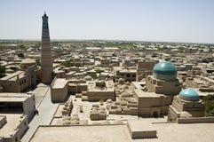Panoramische Ansicht von Khiva Lizenzfreie Stockfotografie