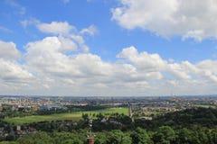 Panoramische Ansicht von Krakau Stockfotografie