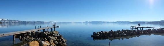 Panoramische Ansicht von Lake Tahoe Lizenzfreie Stockfotografie
