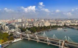 Panoramische Ansicht von London Lizenzfreie Stockfotografie