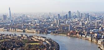 Panoramische Ansicht von London Lizenzfreies Stockfoto