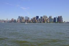 Panoramische Ansicht von Manhattan in New York City Lizenzfreie Stockbilder