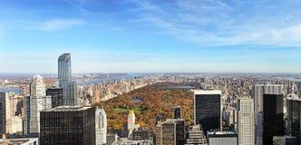 Panoramische Ansicht von Manhattan New York, USA Lizenzfreie Stockfotos