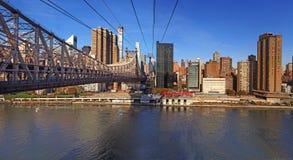 Panoramische Ansicht von Manhattan New York, USA Lizenzfreies Stockfoto