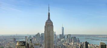 Panoramische Ansicht von Manhattan New York, USA Stockbilder