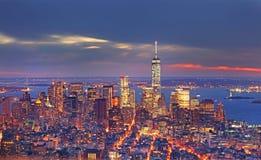 Panoramische Ansicht von Manhattan New York, USA Stockfotografie