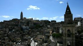 Panoramische Ansicht von Matera stock video footage