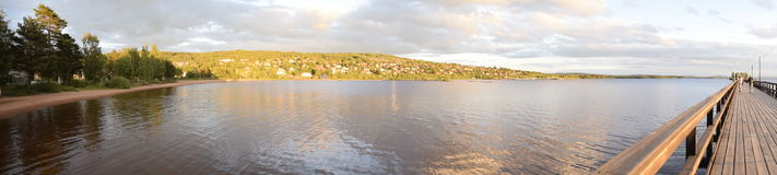 Panoramische Ansicht von Meer Lizenzfreie Stockfotografie
