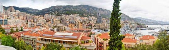 Panoramische Ansicht von Monaco Bewölkter Sommertag Stockbilder