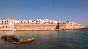 Panoramische Ansicht von Monopoli Puglia Italien Zeitversehen stock footage