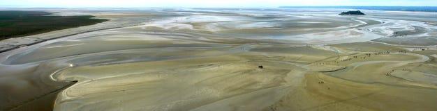 Panoramische Ansicht von Mont Str. Michel (Normandie) Lizenzfreies Stockfoto