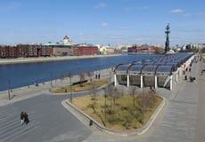 Panoramische Ansicht von Moskau Stockfotografie