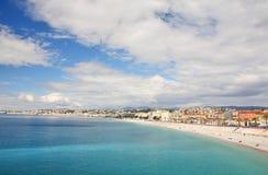Panoramische Ansicht von Nizza Stockfotografie