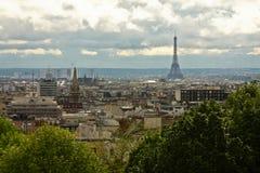 Panoramische Ansicht von Paris stockfoto