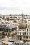 Panoramische Ansicht von Paris Stockfotografie
