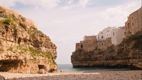 Panoramische Ansicht von Polignano Puglia Italien Zeitversehen stock video