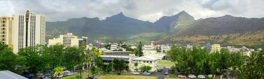 Panoramische Ansicht von Port Louis Stockfotos
