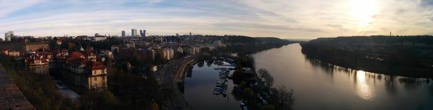Panoramische Ansicht von Prag im Herbst Lizenzfreie Stockfotos