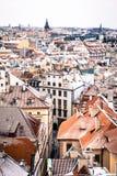 Panoramische Ansicht von Prag, Tschechische Republik stockbilder