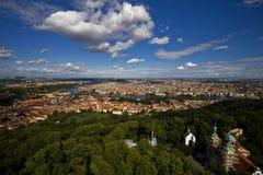 Panoramische Ansicht von Prag, Tschechische Republik lizenzfreies stockbild