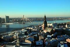 Panoramische Ansicht von Riga stockfotos