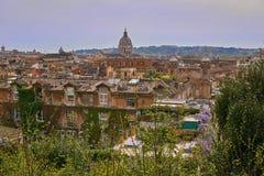 Panoramische Ansicht von Rom Stockbild