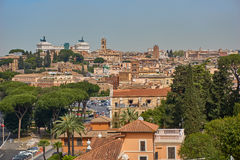 Panoramische Ansicht von Rom Stockbilder
