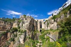 Panoramische Ansicht von Ronda, Andalusien, Spanien Lizenzfreie Stockfotos