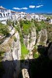 Panoramische Ansicht von Ronda, Andalusien, Spanien Stockbild