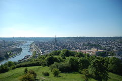 Panoramische Ansicht von Rouen Stockfotos