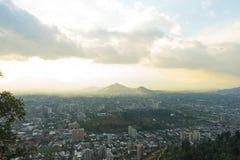 Panoramische Ansicht von Santiagode Chile Lizenzfreie Stockfotos