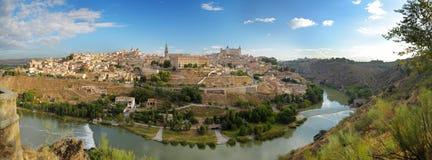 Panoramische Ansicht von Toledo in Spanien Stockbild