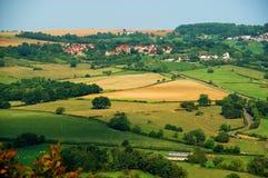 Panoramische Ansicht von Vezelay, Burgunder Stockbild